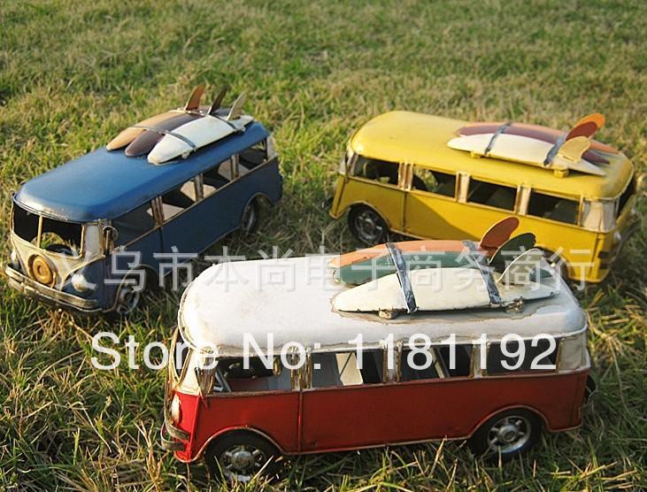 Home Decoration School Bus Models Classic Car Models Handmade retro nostalgia Metal crafts Wedding Photography Prop(China (Mainland))