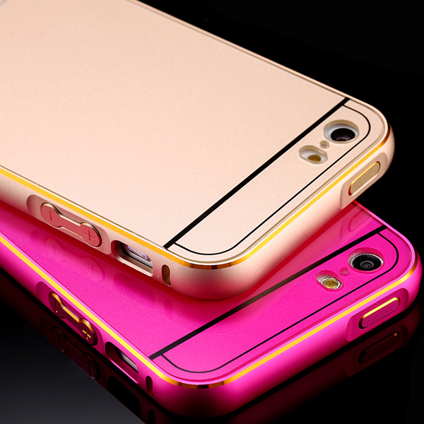 i5 Metal Aluminum Capa Case For Apple iPhone 5 5S Ultra Thin 0.5mm Dual Hybrid Frame+ Back Shell For iphone 5S Cellphone Cover(China (Mainland))