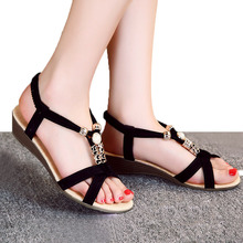 Wedges Sandals Women Shoes Black Ladies Summer Sandals 2016 Flip Flops Shoes Women Sandals Chaussure Femme