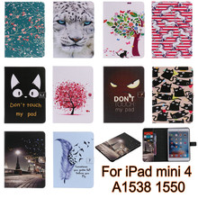 New fashion silicone case For iPad Mini 4 Cover Case Smart Wallet Silicone Stand Case Girl Kids Gift Protect Cover A1538 A1550(China (Mainland))