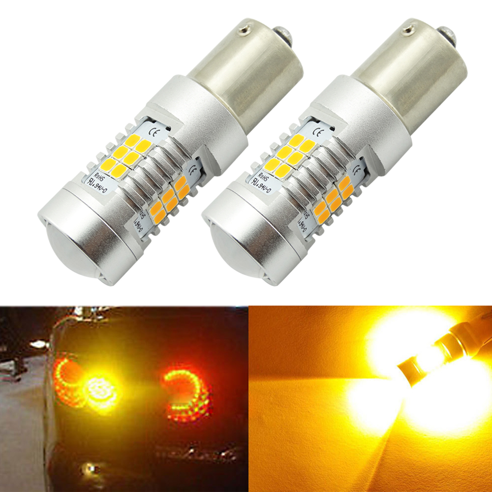 2 x super bright bau15s py21w led 21 smd led lights bulbs. Black Bedroom Furniture Sets. Home Design Ideas