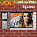 2015 New big screen 9 inch screen color video door phone intercom system video doorbell camera