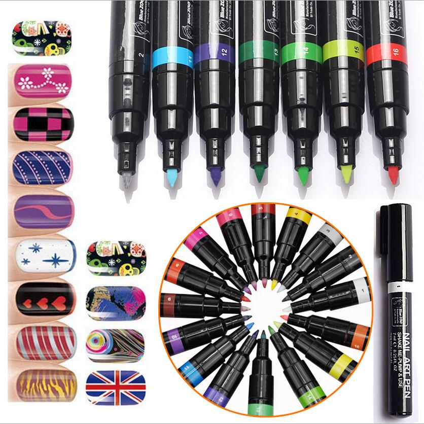 24 Colors Nail Polish Pen for 3D DIY Nail Art Decoration Nail Art Painting Pen for Manicure-NT019