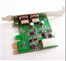 New USB 3.0 PCI-e PCI Express to 2 Port VLI USB Hub Controller Card Adapter Converter 5Gbps Free Shipping Wholesale