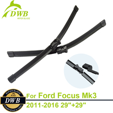 """Buy Wiper Blades Ford Focus Estate & Hatchback & Saloon Mk3 2011-2016 29""""+29"""", 2pcs Free Shipping, Direct Fit Windscreen Wipers for $16.73 in AliExpress store"""