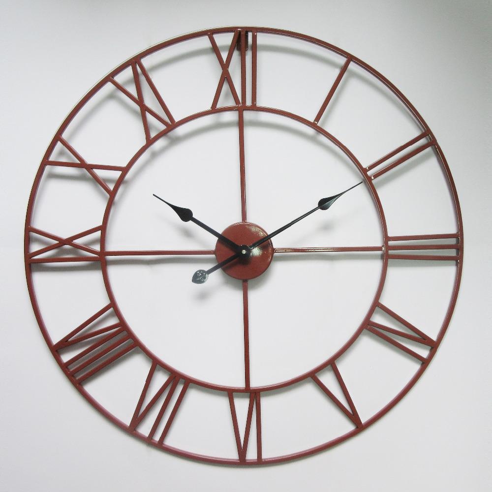 Achetez en gros industrielle horloge en ligne des for Horloge murale fer forge