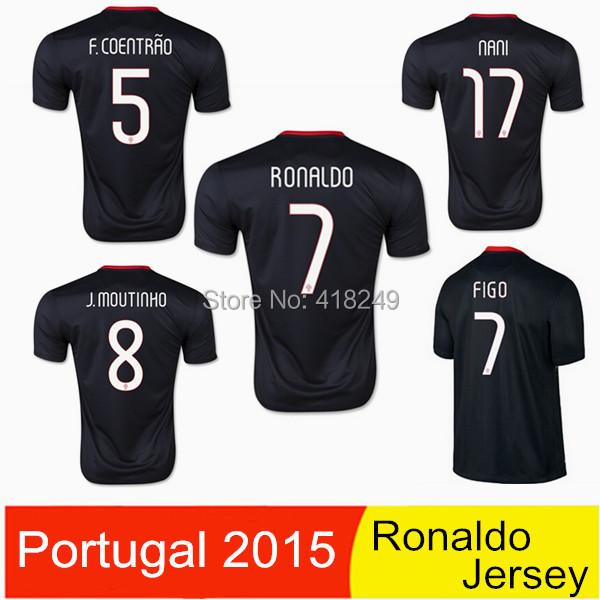 Warrior 2015 Portugal Jersey 2016 football shirt RONALDO NANI COENTRAO retro soccer kit(China (Mainland))