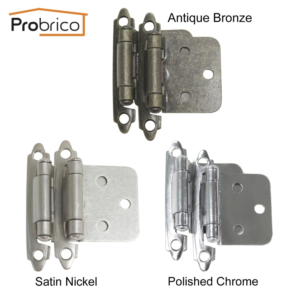 Probrico 5 Pair Self Close Antique Bronze/Satin Nickel/Polished Chrome Kitchen Cabinet Hinge CH197 Cupboard Door Hinge(China (Mainland))