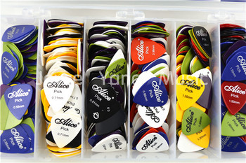 Lots of 100pcs Acoustic Electric Guitar Picks Plectrums(Assorted Thickness&Colors) Free Shipping Wholesales