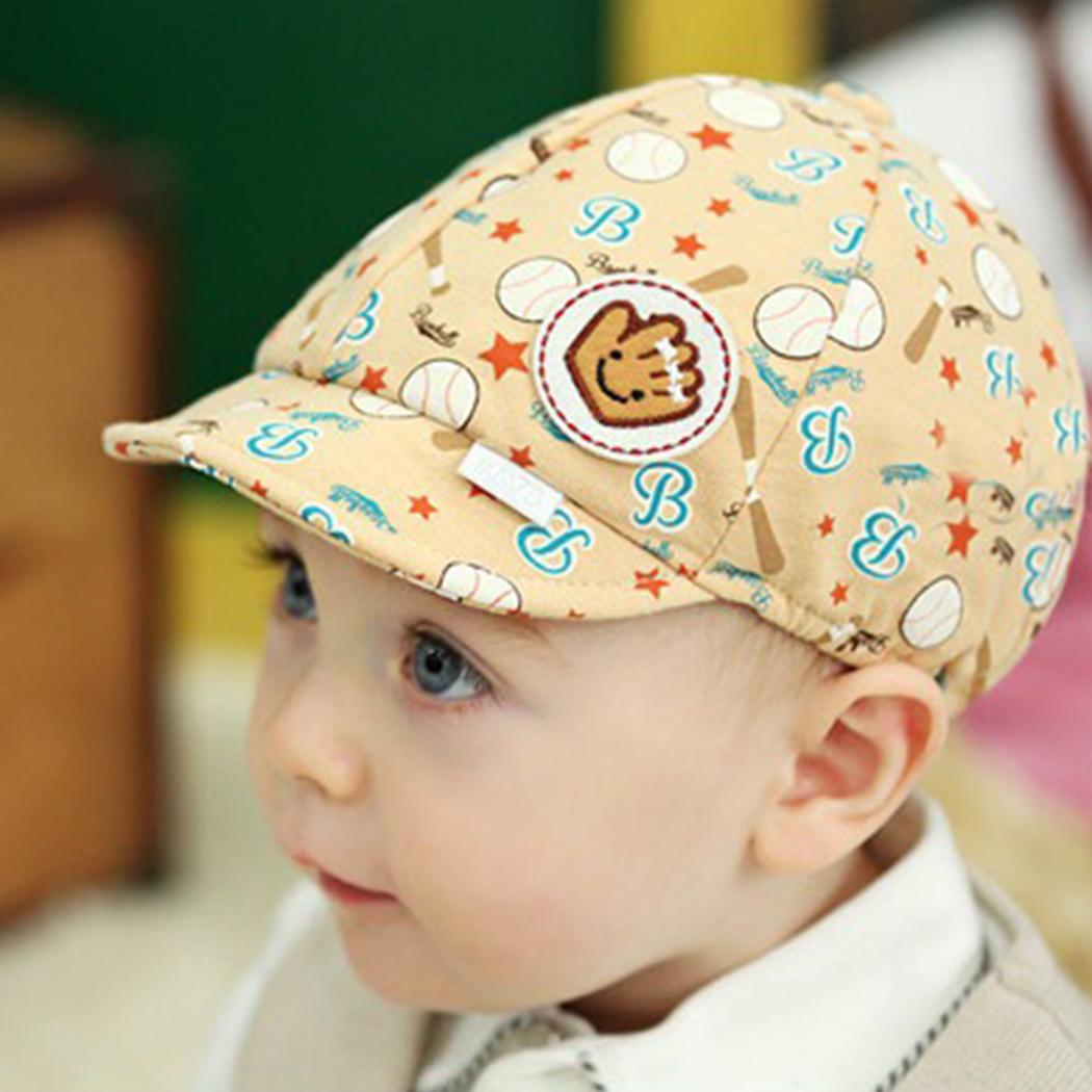 1 PCS Newborn Cotton Hat Baby Summer Sun HatsBaseball Cap Boys Girls 6 Monthss to 24month 023(China (Mainland))