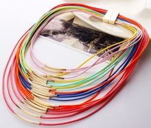 Hot Fashion Women Multicolor Necklace Multilayer Rope Bohemia Statement Long Necklace Jewelry for Women N27971