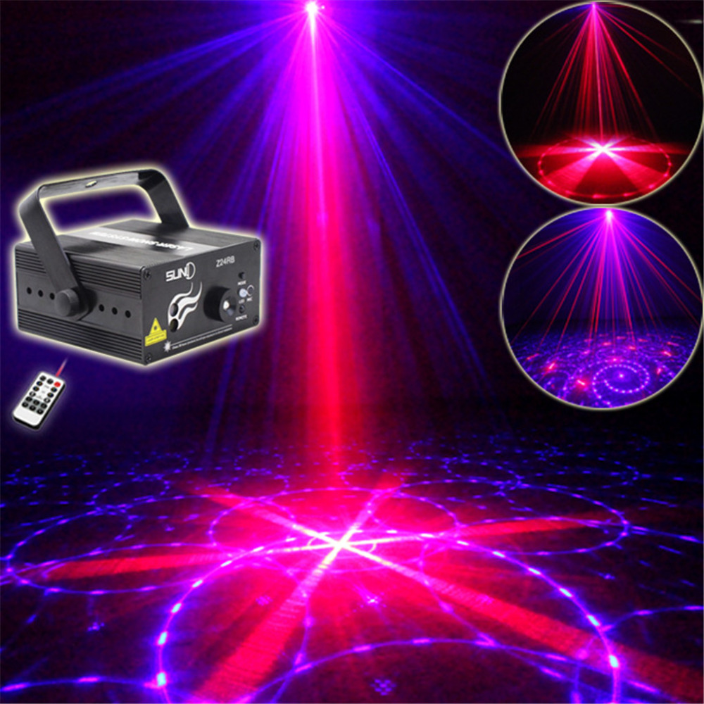 New IR Remote 24 Patterns RB Laser Crossover Effect Projector 3W Blue LED Mixing Effect DJ KTV Party Stage Lighting Z24RB<br><br>Aliexpress