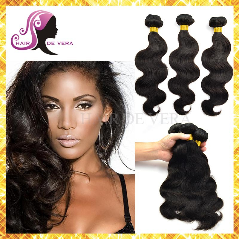 Brazilian Virgin Hair Body Wave 3 Bundles Brazillian 100% Human Hair Weave Cheap 5A Brazilian Body Wave Virgin Hair De Vera(China (Mainland))