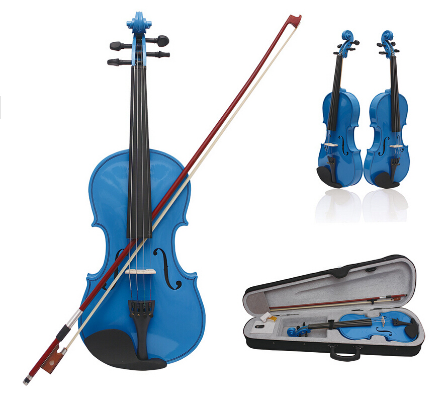 China Violin (3/4 &amp; 4/4 &amp; 1/2 &amp; 1/4 &amp;1/8) Acoustic Violin with Case / Classical Rosin Violin High Quality<br>