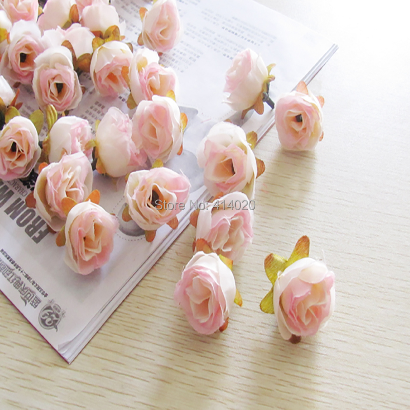2015 New 100pcs/bag 2.7cm Diameter Silk Rose Flower Head Decoration Handmade Diy Wedding Car Artificial(China (Mainland))