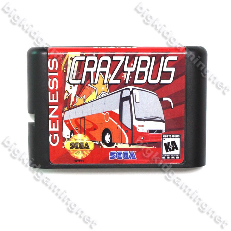 Crazy Bus Game Cartridge 16 bit MD Game Card For Sega Mega Drive For Genesis(China (Mainland))