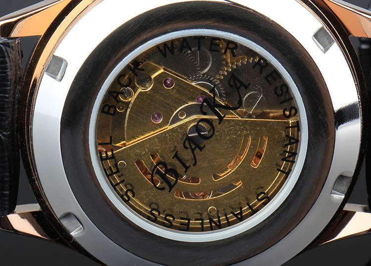 BIAOKA Прозрачный Золотые Часы Мужские Часы Лучший Бренд Класса Люкс Relogio Мужской Часы Мужские Часы Montre Homme Механические Часы Скелет