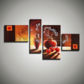 4 piece modern canvas abstract modern handmade decorative picture flower hand oil painting oil painting canvas