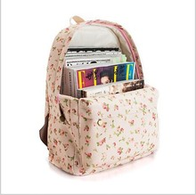 24 Color Women sweet smaller ditsy Rose Flower printing Backpack school college shoulder book bags preppy