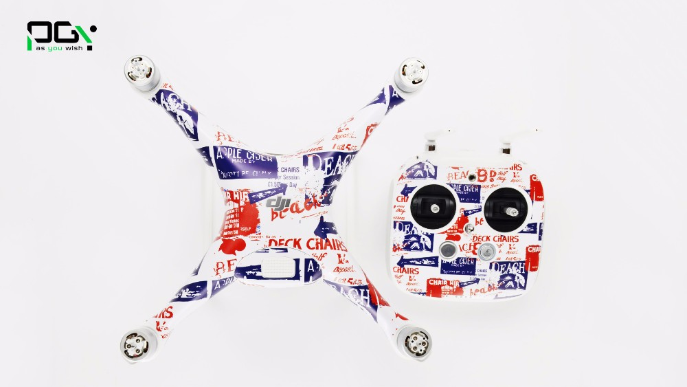 PGY DJI Phantom 4 Stickers film Skin Decal  accessories Professional 3M phantom4 Waterproof  Quadcopter drone Wrap Sheet  parts