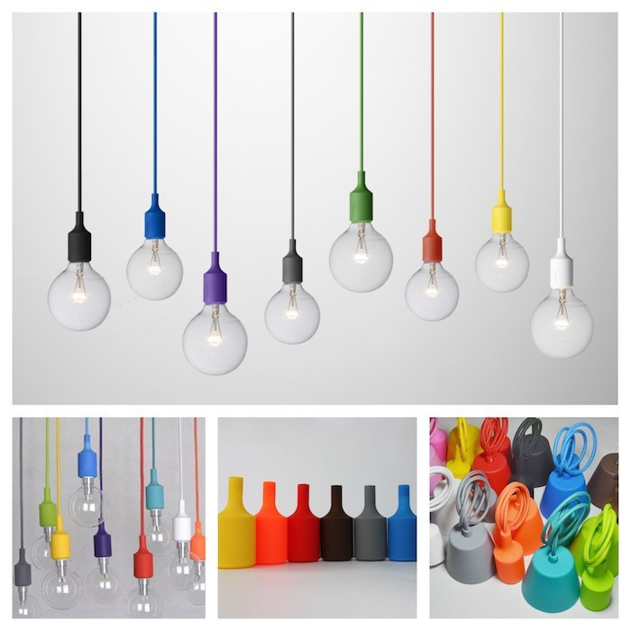 1pcs DIY Personality E27 LED lamp 10 Colorful Silicone Pendant light holder with 100cm cord ceiling base For Decoration lighting<br><br>Aliexpress