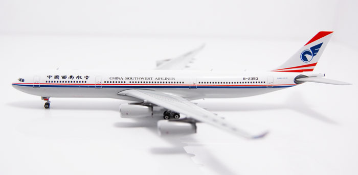Free Shipping China Southwest Airlines Airbus A340-300 B-2390 Airplane 1:400 Scale Models Plane Model Figure Pop Collection Toys(China (Mainland))