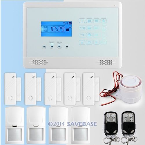 HOMSECUR DIY Wireless& Wired GSM Home Security Burglar Alarm System Kit With SOS Intercom(China (Mainland))