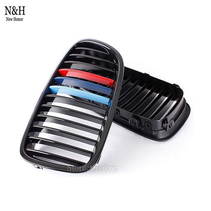Фотография High Quality 3 color Front Matte Black Grill Plastic Racing Grilles For BMW F10 5-Series Sedan 528i 530i 550i
