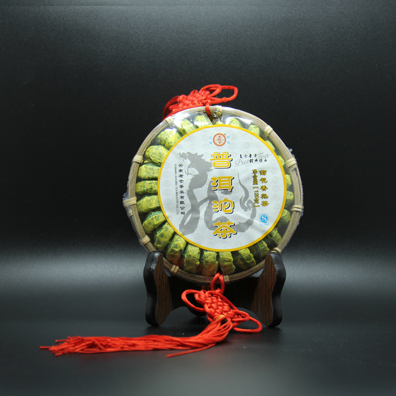 Chinese handicraft packing Chrysanthemum pu er tea with 120g from Menghai Yunnan flower Ripe Puer tea can be decoration or drink(China (Mainland))