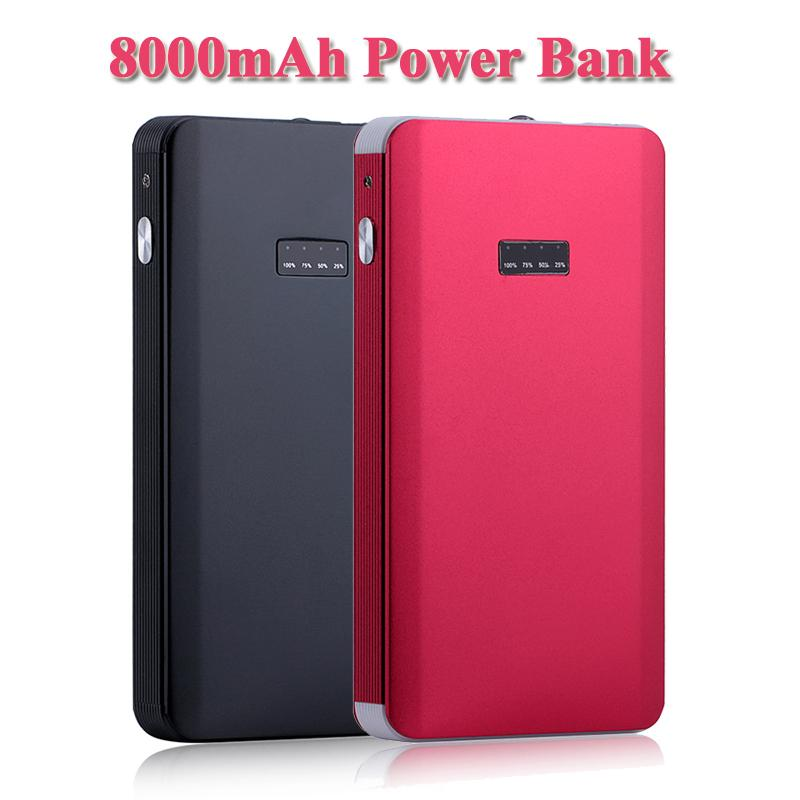 LEMFO 8000mAh Power Bank Car Emergency Jump Starter External Backup Battery for iPhone Samsung HTC Smartphone Tablet PC Notebook(China (Mainland))
