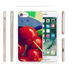 cherries berries close Transparent Case Cover apple iphone 4 4s 5 5s SE 6 6s 7 7s plus i4 i5 i6 i7 - AlexMohoo Store store