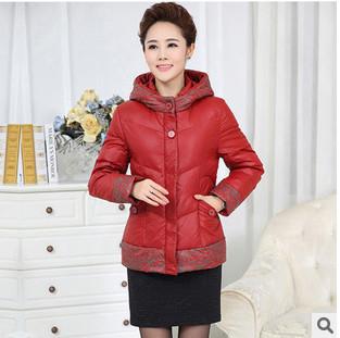 2014 New Brand Winter Jacket Women Middle-aged Clothing Fashion Hooed Flower Pint Elegant Slim Plus Size Cotton Down Coat WJ2191Одежда и ак�е��уары<br><br><br>Aliexpress