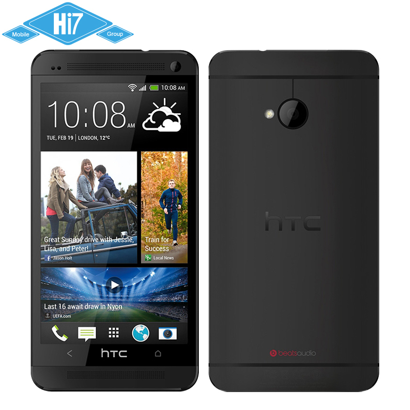 Original HTC One M7 Mobile Phone Android 4.1 32GB Quad-Core 4mp 1.7GHz 4.7''1920x1080 Super LCD 3 HD NFC Free shipping(China (Mainland))