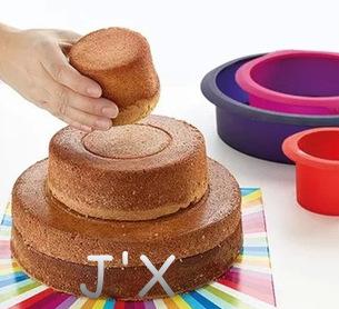 New Molds Silicone Cupcake Moulds Tool Molds 3 in 1 Round Wedding Cake Pan Baking Cake Tins Birthday Cake Bakeware Pan Platinum(China (Mainland))