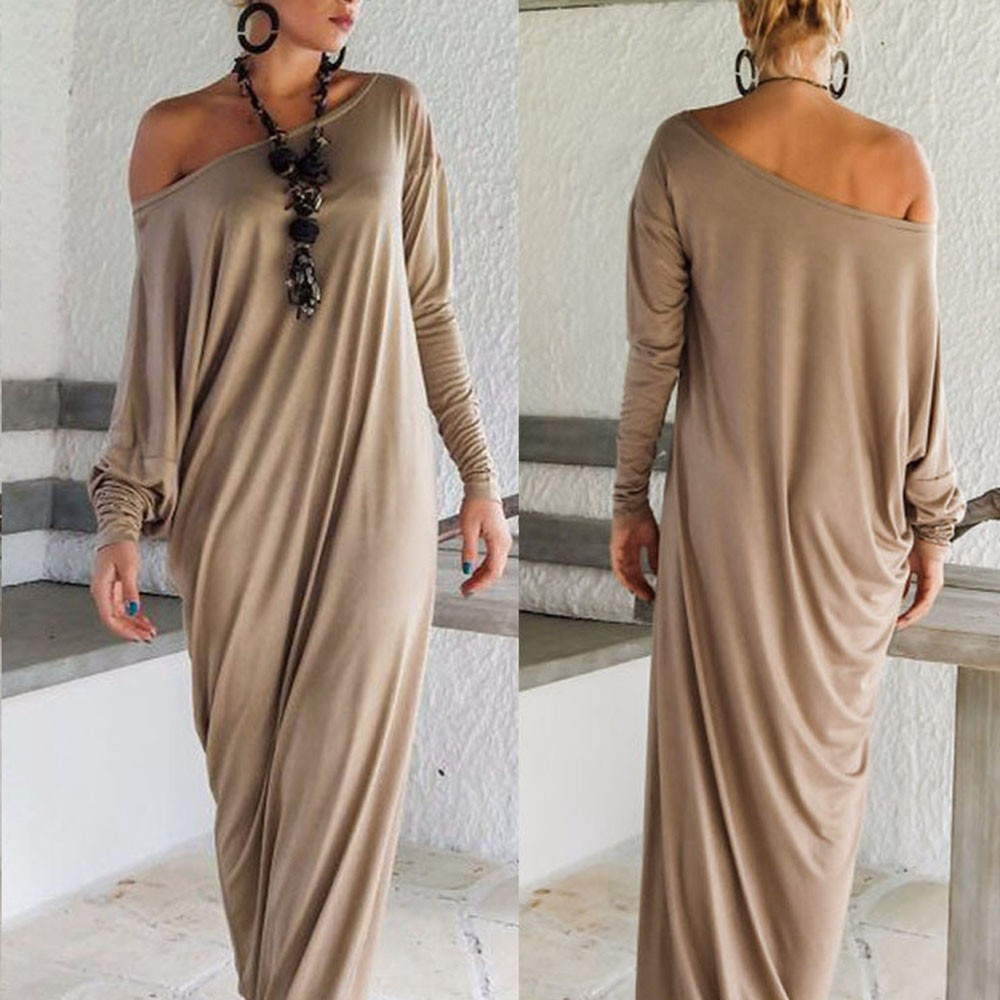 Women Long Dress Long Sleeve Maxi Dress Casual Sexy Fall Full Sleeve Loose Wrap Oversize Irregular Elegant Party Dresse vestidos (1)