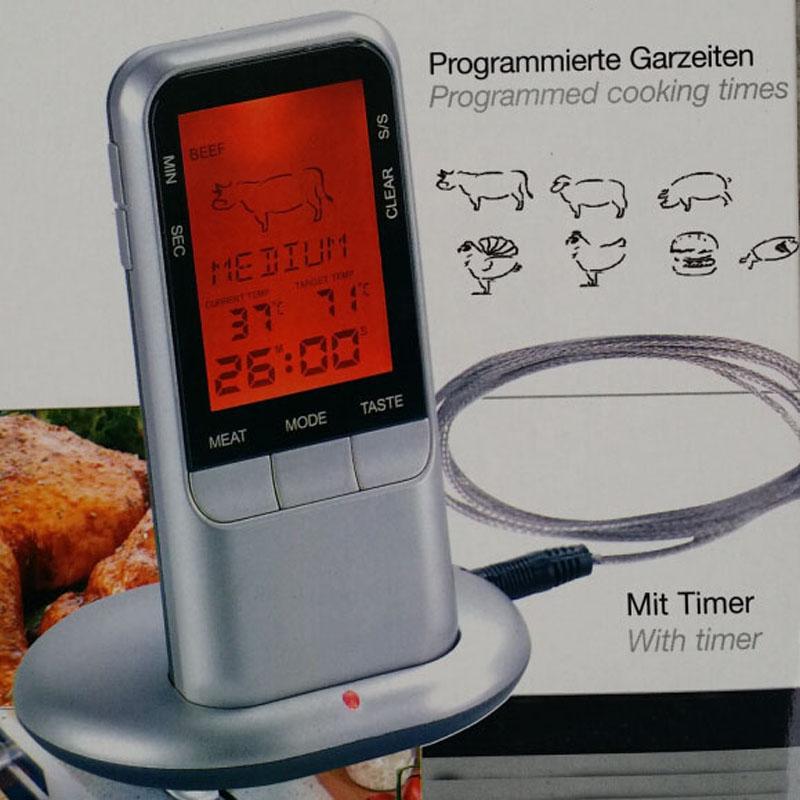 Num rique sans fil distance thermom tre viande avec - Sonde temperature cuisine ...