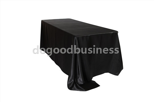 90 x 132 inch Rectangular Satin Tablecloth White/Black Tablecloths Table Cover for Wedding Party Restaurant Banquet Decorations(China (Mainland))