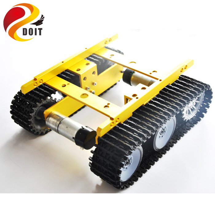 original doit robot tank car chassis tp100 caterpillar clawler diy toy robot remote control. Black Bedroom Furniture Sets. Home Design Ideas