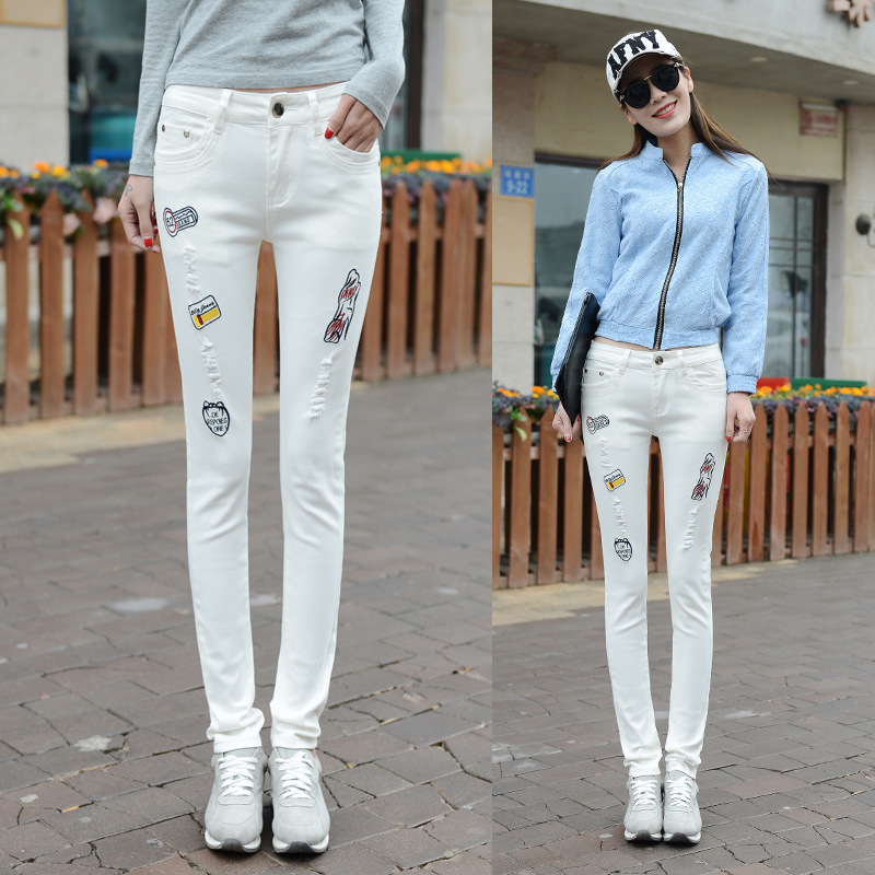 Compare Prices on White Stretch Jeans for Women- Online Shopping ...