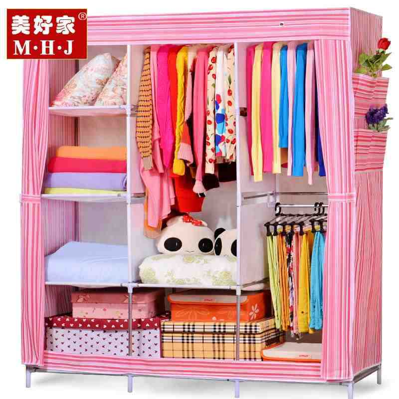 Bedroom Furniture simple wardrobe large reinforce steel cloth wardrobe closet simple cloth cabinet large capacity wardrobes(China (Mainland))