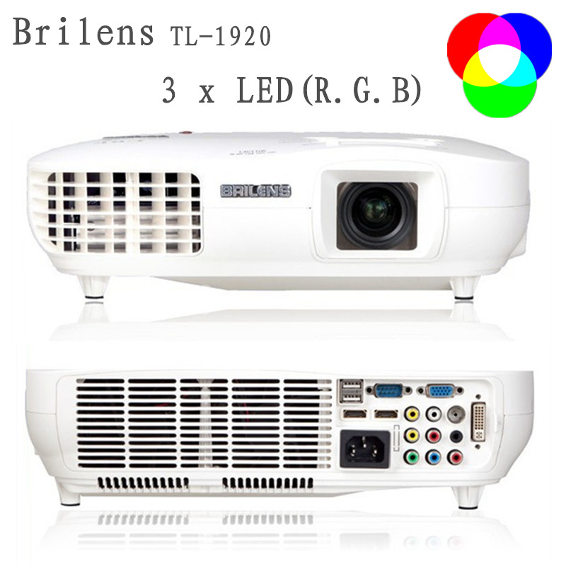 Full HD TL1920 Home Theater Projector1920x1080P Multimedia Player HD Red Green Blue Color 3 Led Lights Home Cinema 23 Languages(China (Mainland))