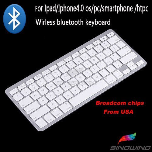 MINI Wireless Bluetooth Keyboard tablet game TV Keyboard  for Apple iPad iPhone Normal PC /All in one PC Free shipping  SW-0007