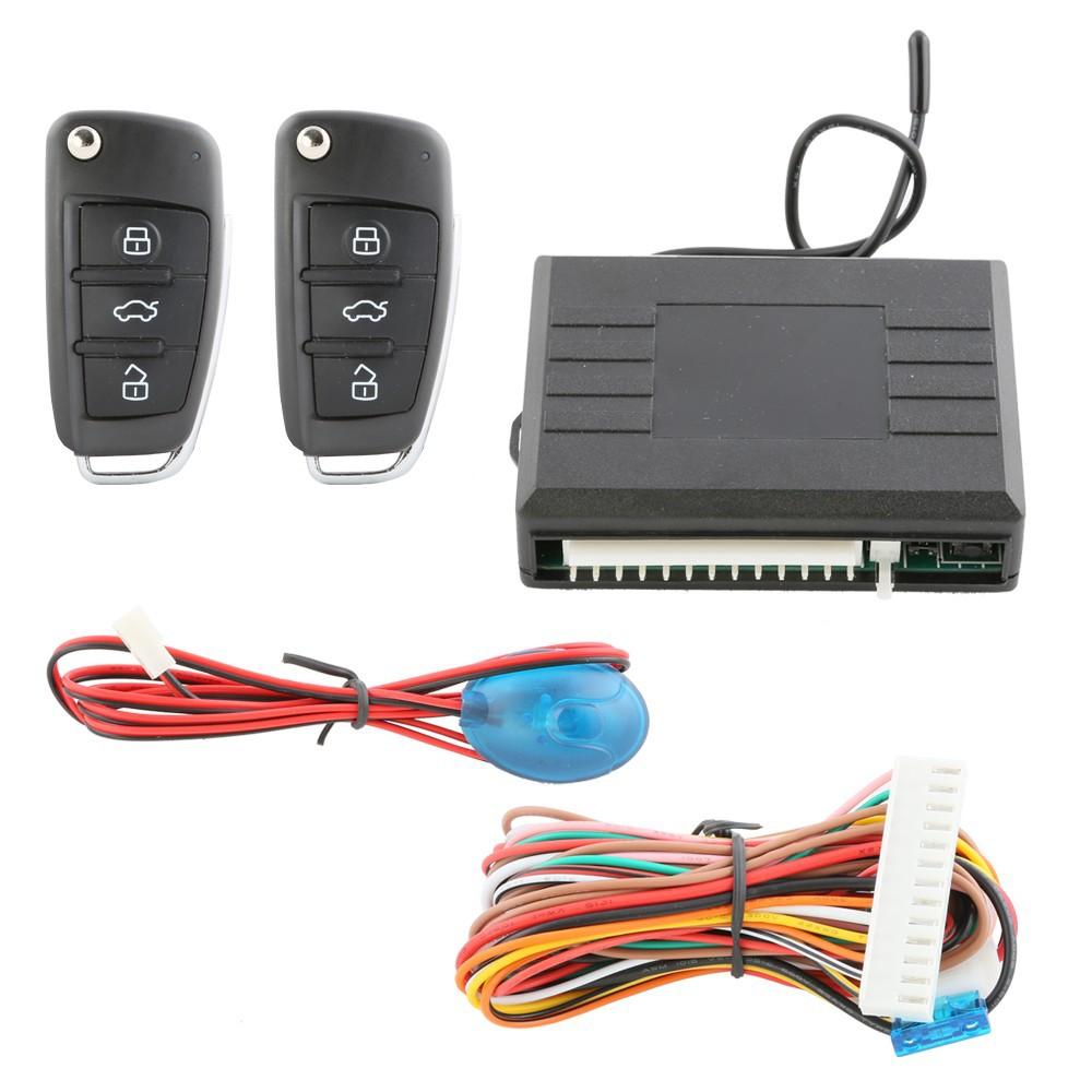 Купить Качество универсальная автомобильная автозапуск система индивидуальные флип ключ свет дистанционного открывания багажника центральный замок блокировка DC12V
