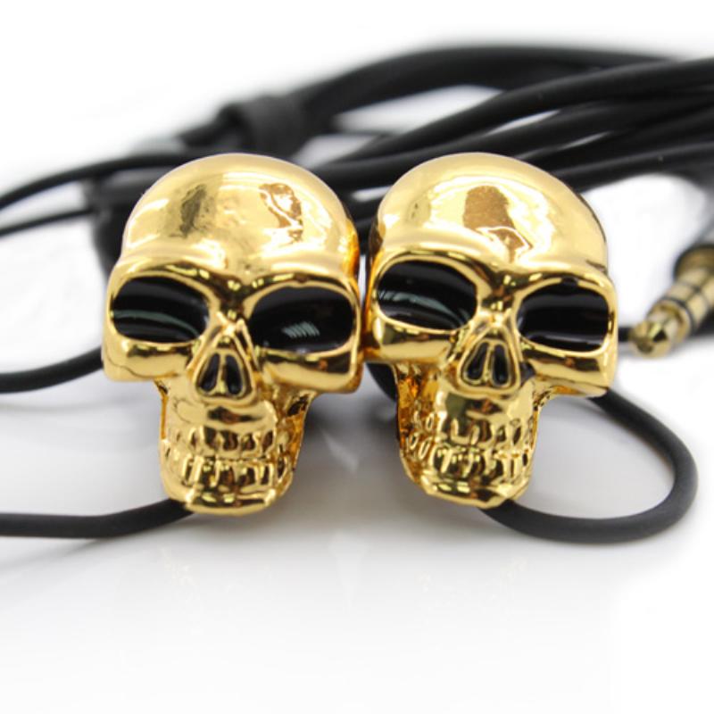 Merkury Innovations Earbuds Skull Skeleton Shapes Super Deep Bass Earphone Fone De Ouvido(China (Mainland))