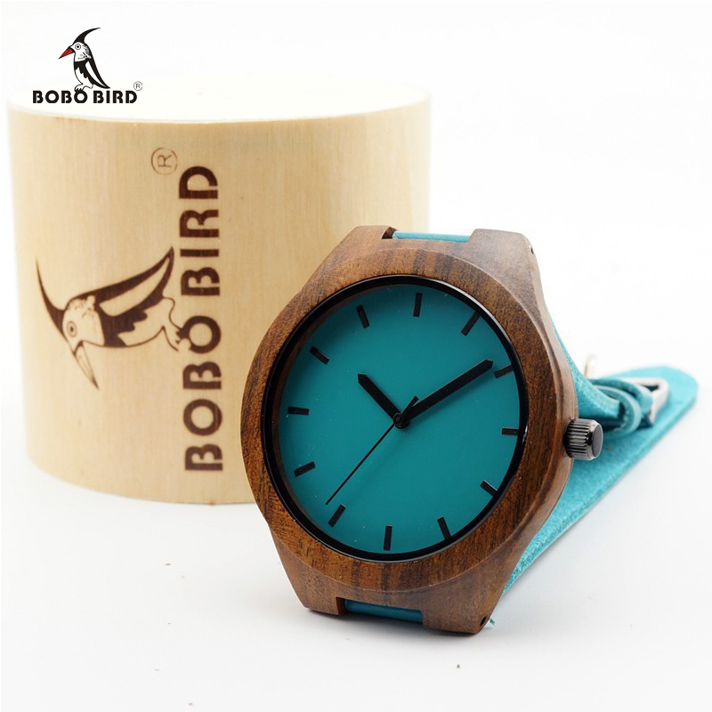 Japan Quartz Movement 2035 Ebony Wooden Watches with Blue Genuine Leader Band Luxury Wristwatch Wood Watch Best Novelty Gifts<br><br>Aliexpress