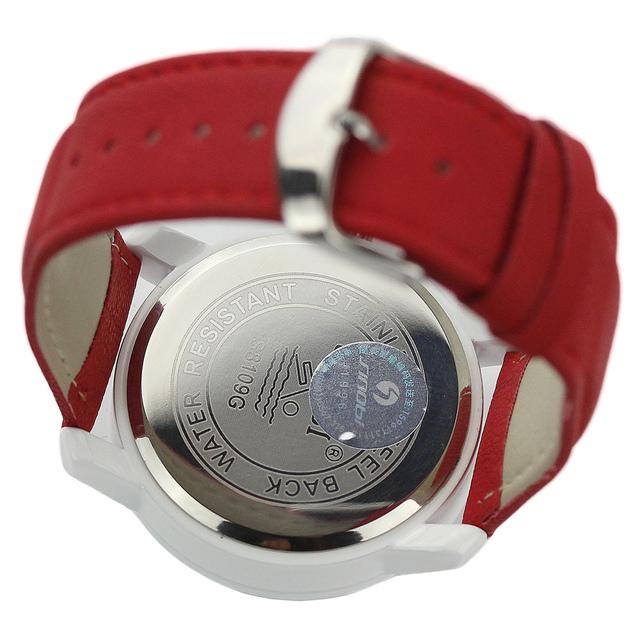 Zegarek damski SINOBI casualowy minimalistyczny czerwony