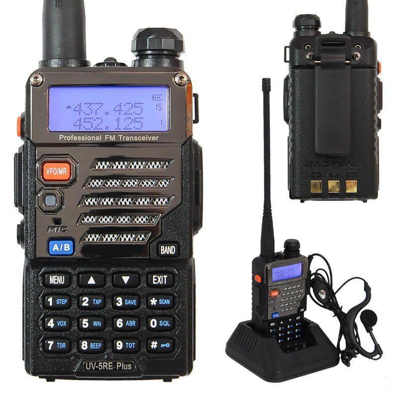 Brand new Baofeng UV-5RE Plus U/VHF 136-174/400-520MHz Ham Best Long Range 2 Way Radios Walkie-Talkie Two Way Radio Reviews(China (Mainland))