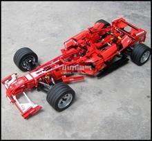 1242pcs 1:8 F1 Formula Racing Car Model Building Blocks Bricks Set Educational Toy Children Gift Compatible With Lego Technic(China (Mainland))