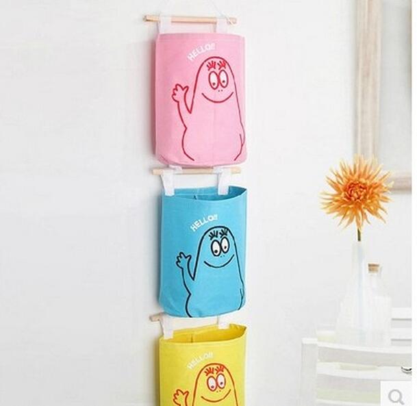 New Fashion Cute Hang Up Wall Storage Bag Decorative Hang Stuff c Organizer Colors free shipping No 650(China (Mainland))