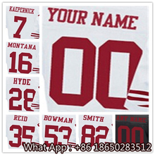Men's #7 Colin #16 Joe #28 Carlos #35 Eric #53 NaVorro #82 Torrey Black White Red Football Jersey 100% Stitched with Customized(China (Mainland))